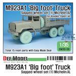 M923A1 BIG FOOT Truck Mich. XL Sagged Wheel set
