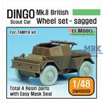 WW2 British Dingo Mk.II Sagged Wheel set