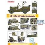US 1/4 Ton 4x4 Truck w/.30cal      1:6