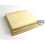 Holzsockel, hoch, 18x18cm (20x20), natur