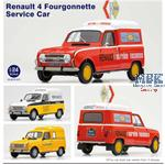 Renault 4 Fourgonnette Service Car 1/24