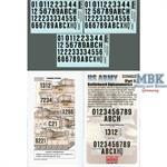 US Army OIF Battleboard Alphanumberics (Part 1)