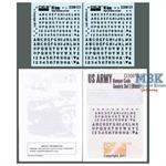 US Army Bumper Codes Generic Set 1 (black)