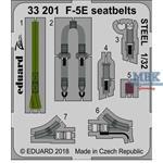 F-5E seatbelts STEEL 1/32