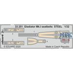 Gloster Gladiator Mk.I saetbelts STEEL 1/32