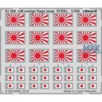 IJN ensign flags large STEEL 1/350