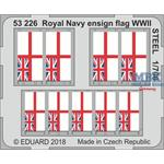 Royal Navy ensign flag WWII STEEL   1/700