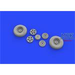 Spitfire Mk. IX wheels 5 spoke w/smooth tire 1/32