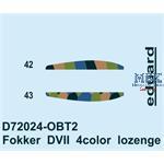 Fokker D. VII 4color lozenge 1/72