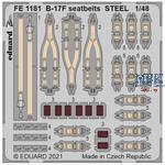 Boeing B-17F Flying Fortress seatbelts STEEL 1/48