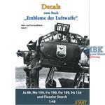Decalbogen Embleme der Luftwaffe Band 1 1:48