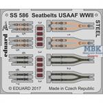 Seatbelts USAAF WWII STEEL  kl. Ätzteilset  1/72