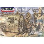 Britische Artillerie mit 18-Pfünder-Kanone