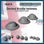 Dented UK Brodie helmets