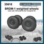 BRDM-1 weighted wheels