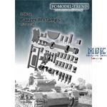 Panzer III clamps / Werkzeughalterungen