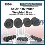 Sd.AH 116 trailer weighted wheels