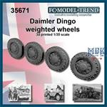 Daimler Dingo weighted wheels