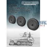 Sd.Kfz. 250 weighted wheels + flat wheel