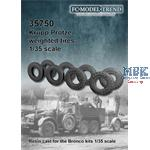 Krupp Protze, weighted tires