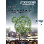 Open 24hrs, neon light