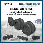 Sd.Kfz.232 6 rad, weighted wheels