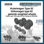 Kübelwagen weighted wheels