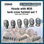 Heads with M38 helmet, set 1