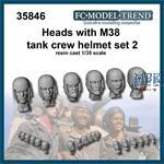 Heads with M38 helmet, set 2