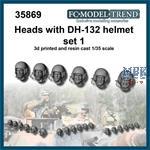 DH-132, helmet heads set 1