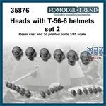 Heads with T-56-6 helmet set 2