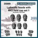 Luftwaffe M43 beret heads, set 1
