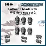 Luftwaffe heads with M-43 cap, set 2