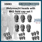 Wehrmacht heads with M-43 cap, set 1
