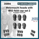 Wehrmacht heads with M-43 cap, set 2