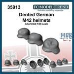 German dented helmets