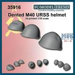 Dented M40 USSR helmets