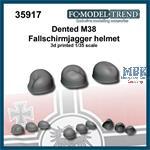 Dented M38 Fallschirmjäger helmets