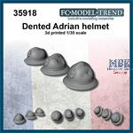 Dented French Adrian helmets