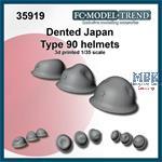 Dented Japan type 90 helmets