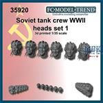Soviet tank crew heads, set 1