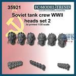Soviet tank crew heads, set 2
