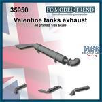 Valentine tanks exhaust