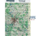 Self adhesive paper base, U.S. map of Berlin WW2