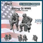 Sitting GI's - World War II (1:72)