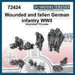 Wounded and fallen German Infantry WWII (1:72)