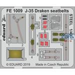 Saab J-35F Draken seatbelts STEEL 1/48