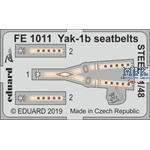 Yak-1b seatbelts STEEL  1/48