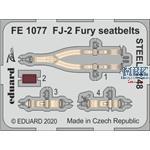 North-American FJ-2 Fury seatbelts STEEL  1/48