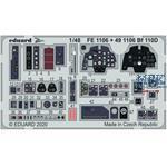 BF 110D seatbelts STEEL  1/48